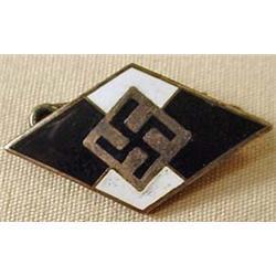 Ww2 German Nazi Enameled Pinback - Marked On Back
