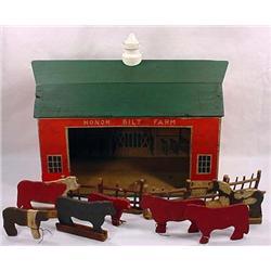 Vintage Honor Bilt Farm Toy - Incl. Barn, Animals,
