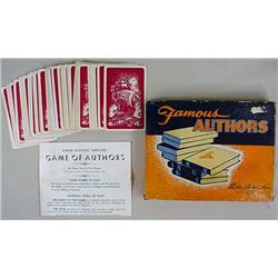 1943 Parker Bros. Famous Authors Card Game In Orig