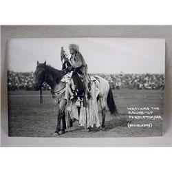 Vintage Rppc Real Photo Postcard Native American I