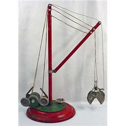 """Antique Mechanical Toy Crane - Approx. 19.5"""" Tall."""