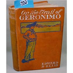 """1901 """"On The Trail Geronimo"""" Hardcover Book"""