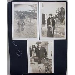 C. 1920'S Photo Album W/ Photos - Incl. Harley Dav