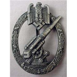 Ww2 German Nazi Army Flak Artillery Badge. - Wide