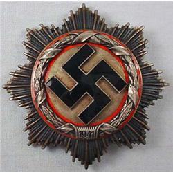 Ww2 German Nazi German Cross In Silver - 6 Rivet C