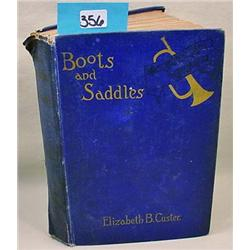 """1913 """"Boots And Saddles"""" Hardcover Book By Gen. G."""