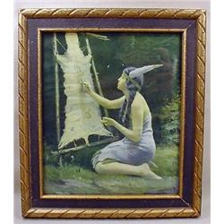 Vintage Native American Indian Maiden Framed Print