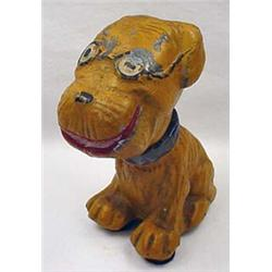 Rare Vintage Pup Toys Snuggle Pup Metal Toy - Head