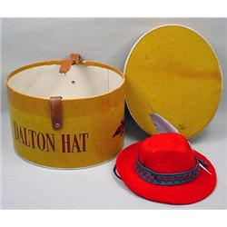 C. 1930'S Dalton Hat Advertising Sample Box W/ Hat