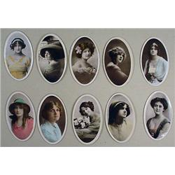 Lot Of 10 1914 Phillips Beauties Cigarette Cards -