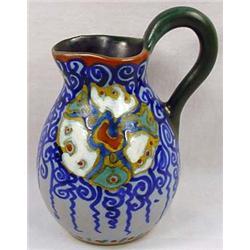 Vintage Gouda Dutch Pottery Pitcher - Approx. 5.25