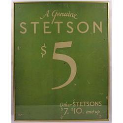 Vintage Stetson Hats Advertising Sign - Framed - A