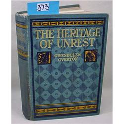 """1901 1St Ed. """"The Heritage Of Unrest"""" Hardcover Bo"""