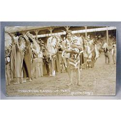 1927 Rppc Real Photo Postcard Native American Indi