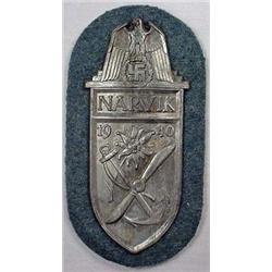 Ww2 German Nazi Army Narvik Sleeve Shield W/ Wool