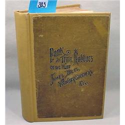 """1888 1St Ed. """"Frank And Jesse James"""" Hardcover Boo"""