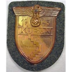 Ww2 German Nazi Army Kuban Sleeve Shield W/ Green