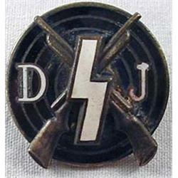 Ww2 German Nazi Deutsches Youth Shooting Enameled