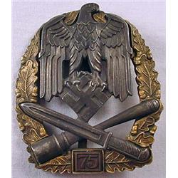 "Ww2 German Nazi Army ""75"" General Assult Badge - M"
