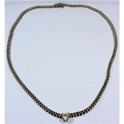 14K White Gold Ladies Diamond Necklace - Comes W/