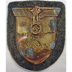 Ww2 German Nazi Army Krim Sleeve Shield W/ Green W