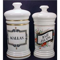 Lot Of 2 Antique Apothecary Jars