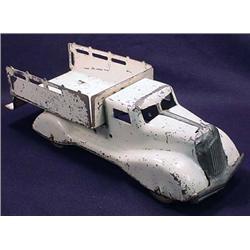 Vintage Pressed Steel Ice Truck Toy