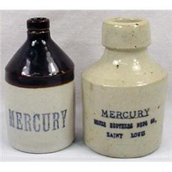 Lot Of 2 Antique Stoneware Mercury Jugs - Approx.