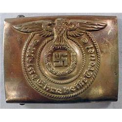 Ww2 German Nazi Waffen Ss Enlisted Man'S Belt Buck