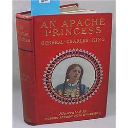 "1903 1St Ed. ""An Apache Princess"" Hardcover Book W"