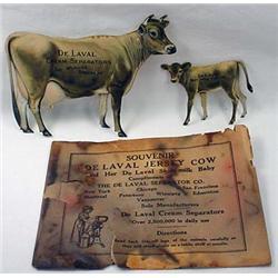 Vintage De Laval Cream Separator Die Cut Tin Adver