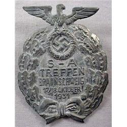 Ww2 German Nazi 1931 Sa Treffen Badge