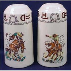 Pair Of Vintage Wallace Till Goodan Rodeo Salt And