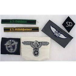 Lot Of 6 Ww2 German Nazi Misc. Cloth Insignia