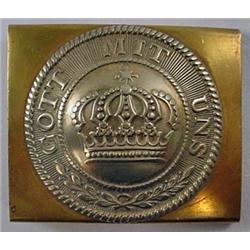 Ww1 Imperial German Nco Belt Buckle - Nickle And B