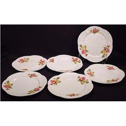 Lot Of 6 Vintage Shelley Begonia Plates - Approx.