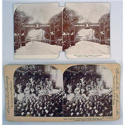 Lot Of 2 Antique Photo Stereoview Cards Of Preside