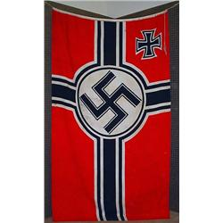 "Ww2 German Nazi Flag - Double Sided - Approx. 44"""