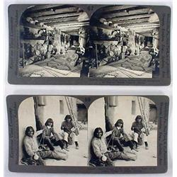 Lot Of 2 Antique Photo Stereoview Cards - Hopi Nat