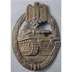 Ww2 German Nazi Army Silver Tank Assault Badge - S