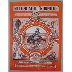 "Vintage ""Meet Me At The Round-Up"" Pendleton, Or Sh"