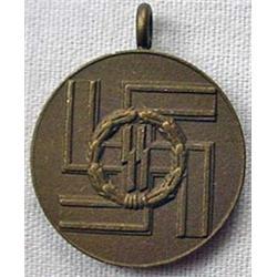 Ww2 German Nazi Miniature Ss 8 Year Long Service A