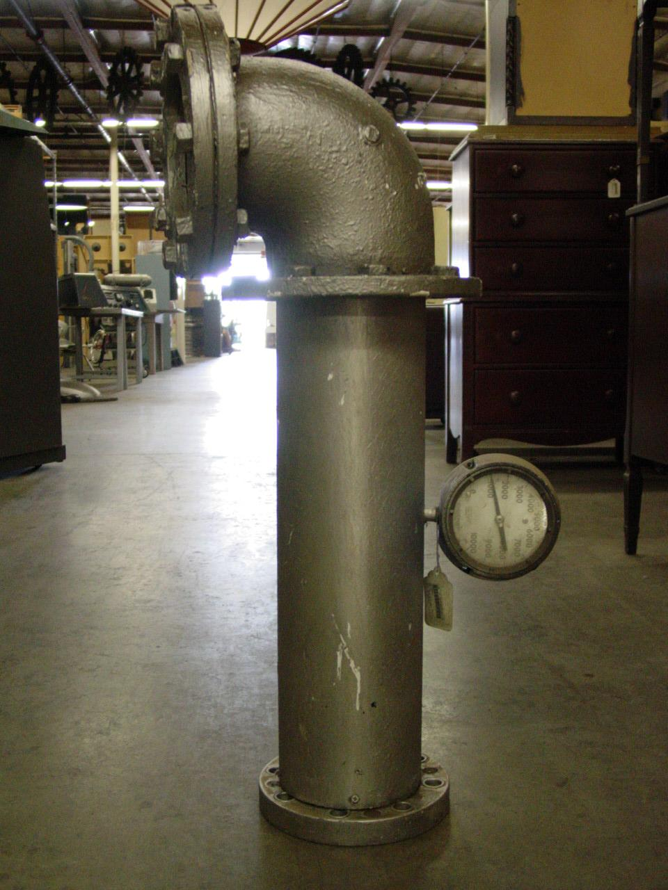 Large 4 Tall Industrial Pipe With Valve Prop