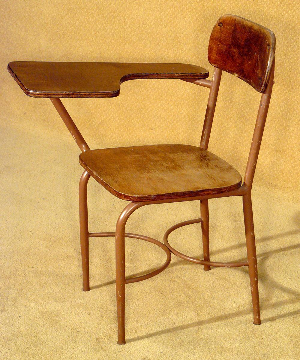 Antique Wooden School Desk X2