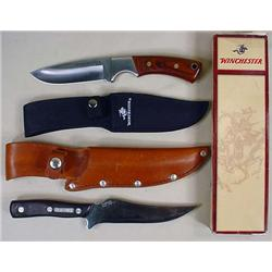 Lot Of 2 Hunting Knives W/ Sheaths - Old Timer And