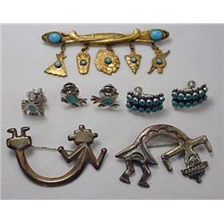 Lot Of Vintage Southwestern Jewelry- Incl. Sterlin