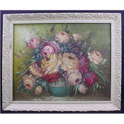 Vintage Painting On Board - Framed - Signed A. Cic