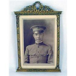 Vintage Photo Of A Us Soldier In Uniform - Framed