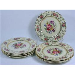 Lot Of 8 Vintage Queens Bouquet Plates Germany Pla
