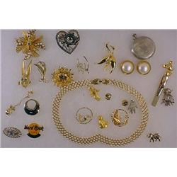 Lot Of Vintage Costume Jewelry - Incl. Brooches, F